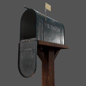 3D model mailbox