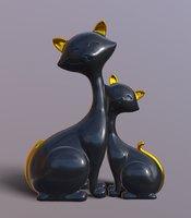 Cats statue