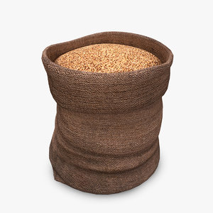 sack wheat 3D