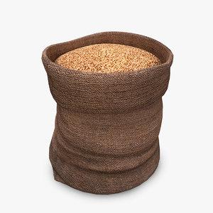 sack wheat 3D