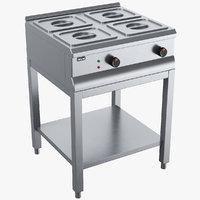 3D model dry heater