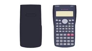 calculator casio fx-82ms 3D model