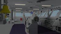 bridge aircraft carrier model