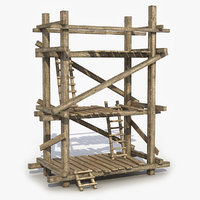 old scaffolding 3D