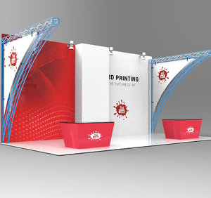 3D exhibition stand booth model