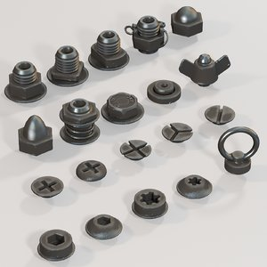 nuts bolts 3D model