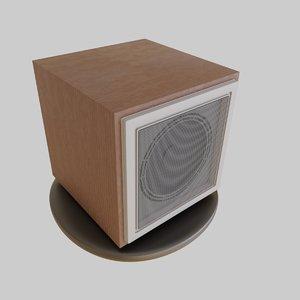 3D vintage soviet speaker