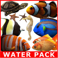 Water Pack (Rigged Models)