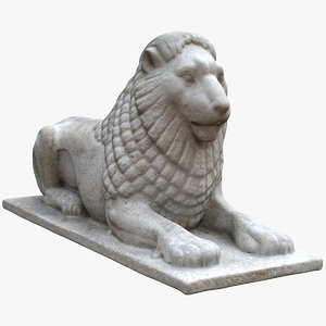 small limestone lion 3D model
