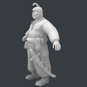 cossack 3D model