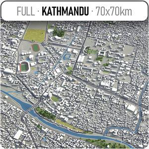3D kathmandu surrounding -