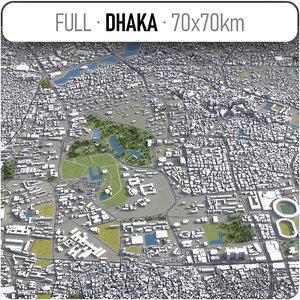 dhaka surrounding - 3D model