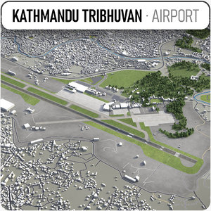 3D tribhuvan international airport
