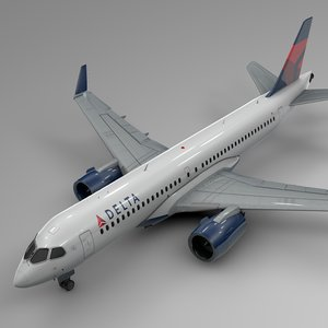 delta airlines airbus a220-300 model