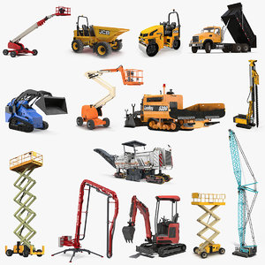 construction vehicles rigged big model