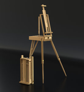 outdoor portable easel 3D model