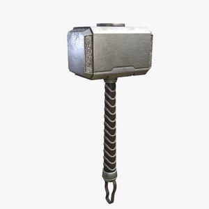 3D model thor hammer mjolnir