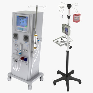 dialysis iv stand syringe 3D model