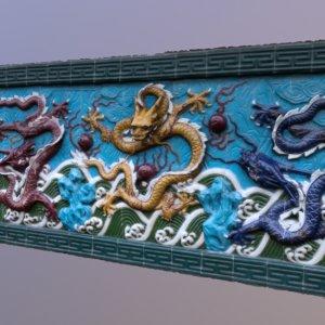 chinese mural 3D model