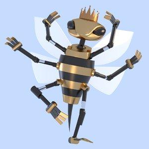 wasp robot 3D model