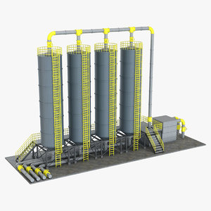 3D industrial silo 1
