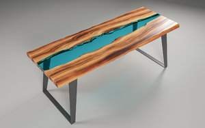 3D resin table