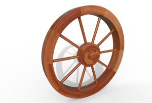 wagon wheel 3D