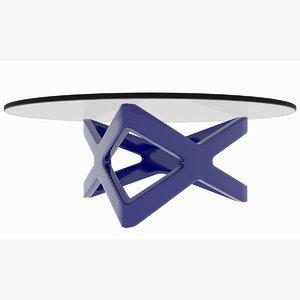 minimalist colored x triangle 3D