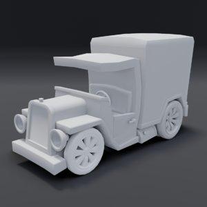 3D toon box truck