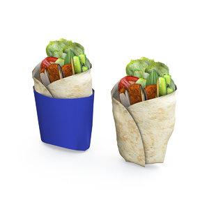 3D burrito model