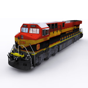 kcs ge locomotive 3D model