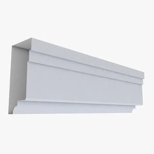 cornice 30 straight 3D model