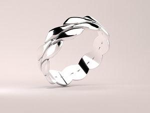 silver 3D model