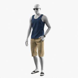 3D realistic mannequin summer clothes model