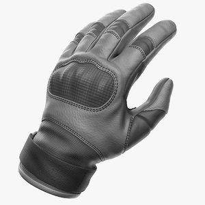 3D combat gloves zbrush model