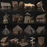 AAA NEXT GEN MEDIEVAL VILLAGE SETTLEMENT BUILDER PACK COLLECTION