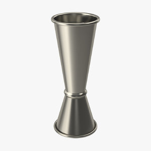 stainless steel jigger double 3D model