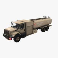navistar international 7400 refueler 3D
