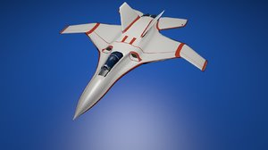 low-poly aircraft attacker 3D model