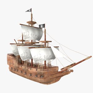 ancient pirates ship model