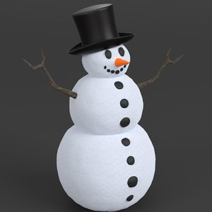 3D snowman ready