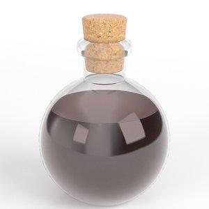3D spherical potion flask