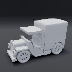 3D toon box truck 2