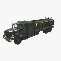 navistar international 7400 refueler 3D model