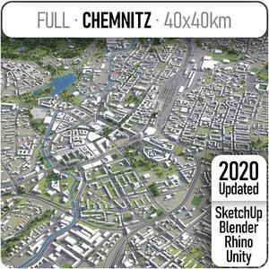 3D chemnitz surrounding -