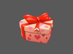 heart gift box 3D model