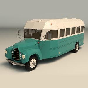 vintage bus 3D model
