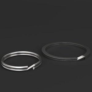 split rings 3D model