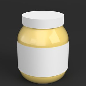 3D model spread food container