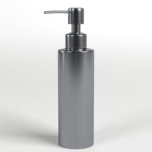 stainless steel pump dispenser 3D model